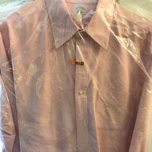 Brooks Brothers Men's Pink Cotton Oxford Shirt 👚